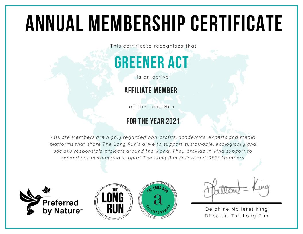 The Long Run Certificate